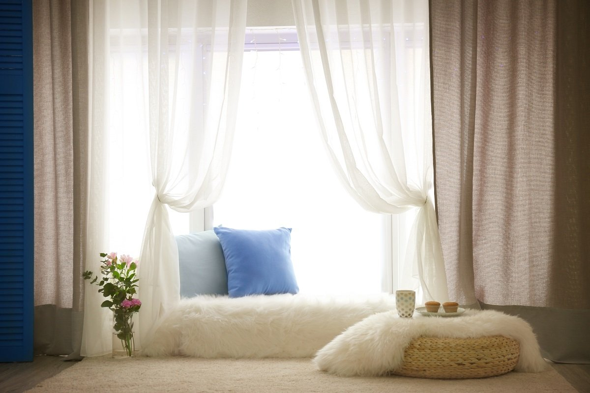 window with drapes